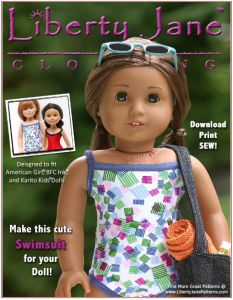 Liberty Jane Patterns is offering free American Girl Doll Dress and Clothing Patterns! This swimsuit pattern is in honor of reaching 10,000 Facebook fans (congrats!) and there are a bunch of other des ...