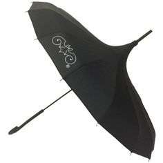 Black Goth Umbrella ❤ liked on Polyvore featuring accessories, umbrellas, black umbrella, gothic umbrella and goth umbrella