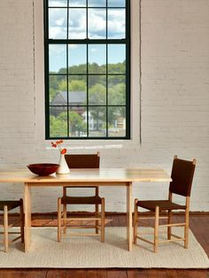 Chiltons Hygge Table Is Designed And Built In Maine From Solid Ambrosia Wormy