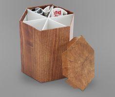 Karton-Beistelltisch, klapp- und faltbar   Tchibo