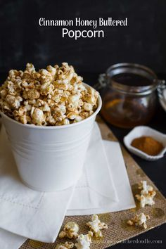 Cinnamon Honey Buttered Popcorn