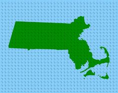GREEN on BLUE OCEAN  Choose from all 50 States. You by Bricklandia