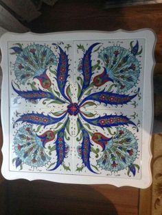 Turkish Tiles, Turkish Art, China Painting, Tile Art, Islamic Art, Pomegranate, Decoupage, Art Drawings, Stencils