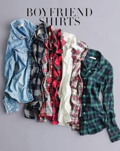 """Boyfriend shirts - Plaid Or """"Winchester wear"""" as I like to call it. I want all of them. I wear his anyway"""