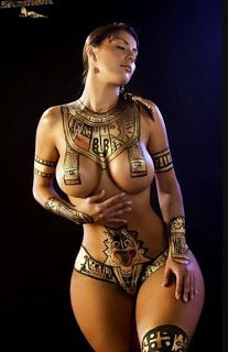 Beautiful nude body paint job! #sexycostumes