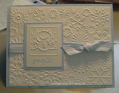 cuttlebug card ideas | christmas card cuttlebug snowflakes | GrannyNanni's Blog