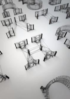 Wire & Mesh : Typographie par Dan Hoopert