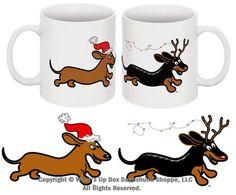 Wahoo Wieners Dachshund Christmas Mug http://www.shop.whatsupdoxdachshundshoppe.com/Dachs-the-Halls-Dachshund-Christmas-Mug-MH628.htm