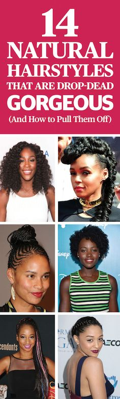 Fall hairstyles - 14 Natural Hairstyles That Are Drop Dead Gorgeous (And How To Pull Them Off). Stop forcing your hair to do things it can't/won't do. Instead, try these hairstyles that make the most of your hair's natural texture. Check out some of our favorites at redbookmag.com.