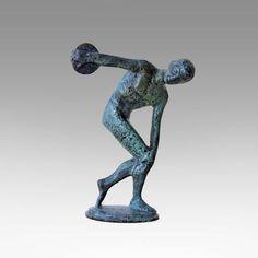 Bronze Discus Thrower Sculpture Greek Athlete by GreekMythos  #santorini…