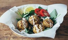 Homemade falafel is the perfect meatless meal. Molly Yeh shares a simple recipe that mixes kale into the classic Middle Eastern recipe.