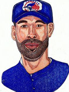 Jose Bautista of the Toronto Blue Jays Toronto Blue Jays, Olympics, Hockey, Baseball Cards, Drawing, Sports, Hs Sports, Sport, Drawings