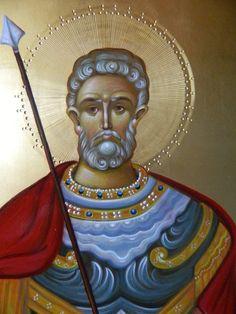 Menas by Elena Cerasela Ciuca Orthodox Icons, Christen, Kirchen, Ikon, Saints, Religion, Portraits, Byzantine, Catholic