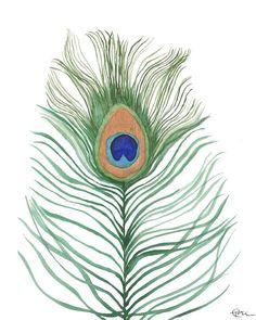 Peacock Feather watercolor painting art print home decor Painting Art, Watercolor Paintings, Artisan & Artist, Watercolor Bird, Etsy Crafts, Handmade Shop, Art Market, Printable Wall Art, Fine Art Paper
