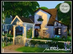 Robin's Roost house by petitchouchou at TSR via Sims 4 Updates