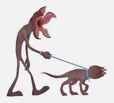 Stranger things - walking the demodog - cleverbrain on etsy netflix, meme, Demogorgon Stranger Things, Stranger Danger, Favorite Tv Shows, Movies, Bridge Drawing, Freaky Things, Colorful Nail, Crochet Braid, Fandoms