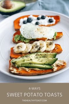 Sweet potato toast is an easy, healthy make ahead breakfast recipe. With four different sweet potato toast toppings, there's something for everyone.    - The Healthy Toast