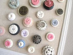 Button Magnet or Push Pin.. excellent idea seeing as I love buttons :)