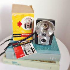 """Flashy"" 1950's vintage display camera!    Vintage Display Camera Kodak Brownie Starflash by MidwestMilkGlass, $30.00    #KodakBrownieStarflash #MidwestMilkGlass #VintageCameraLot #CollectibleCameras"