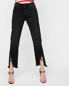 High Waisted Black Original Vintage Skinny Ankle Jeans