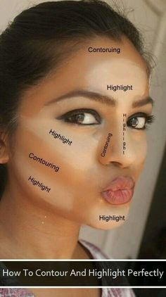 Demonstração perfeita para contornar e iluminar o rosto em uma make