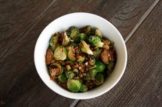 Garlic ginger brussel sprouts.... This recipe makes me want to give this veggie a chance
