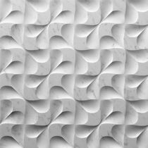 Wall-mounted decorative panel / natural stone / 3-D
