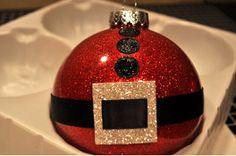 The Sassy Scrapper-Santa and Snowman Glitter Ornaments