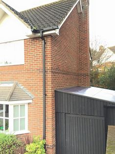 Lean To Roof, Lean To Shed, Garage Extension, House Extension Design, Shed Landscaping, Back Garden Design, Garage Shed, Garden Makeover, Bike Shed