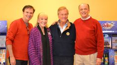 Iconic and legendary singer/actor/writer/producer, Pat Boone, and his darling wife of 59 amazing years, Shirley Boone, pictured here with Oodles World CEO, Hal Brown, and President Amick Byram #family #friends