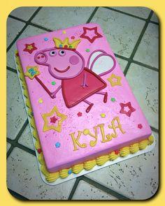 Peppa Pig sheet cake