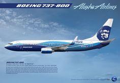 """Alaska Airlines """"Spirit of Seattle"""" Boeing 737-890 N512AS"""
