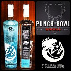 Availability Alert: 7 Sirens Rum on cocktail menu at Punch Bowl Social PDX | 7 Sirens Rum