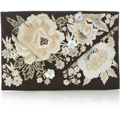 Accessorize Mae Embroidered Envelope Clutch Bag (£48) ❤ liked on Polyvore featuring bags, handbags, clutches, purses, envelope evening clutch, handbags & purses, special occasion clutches, sequin purse and envelope clutch bag