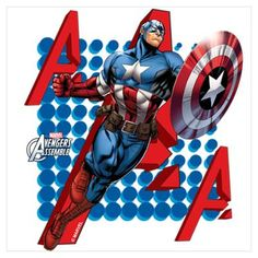 Captain America Wall Art Poster
