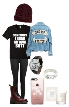 """You Smell Delicious"" by maryberry111 ❤ liked on Polyvore featuring Topshop, Dr. Martens and Casetify"