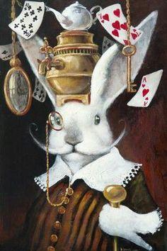 Vladimir Ovtcharov - Alice In Wonderland Rabbit Art, Rabbit Hole, Alice Rabbit, White Rabbit Alice In Wonderland, Chesire Cat, Alice Madness, Lewis Carroll, Bunny Art, Mad Hatter Tea
