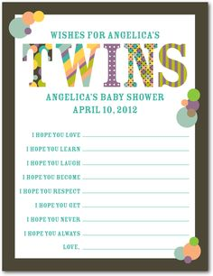 Baby Patterns: Twin   Baby Shower Games In Dark Gray