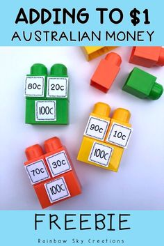 Check out this fun, hands on and engaging FREEBIE to teach your students about addition School Resources, Learning Resources, Teacher Resources, Teaching Money, Teaching Math, Teaching Ideas, Money Activities, Hands On Activities, Year 1 Maths