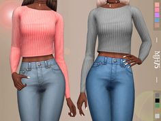-A simple cute crop top for your sims Found in TSR Category 'Sims 4 Female Everyday'