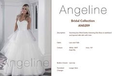Bride dress Bridal by anenia Tulle Lace, Lace Up, Fitted Bodice, Bridal Collection, Bridal Dresses, Bows, Colours, Bride, Fabric