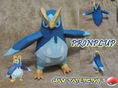 This pokemon papercraft is Prinplup (Pottaishi), a Water-type Pokémon, based on the anime / game Pokemon, the paper model was created by javierini. Water Type Pokemon, Pokemon X And Y, Papercraft Pokemon, Papercraft Download, Paper Art, Paper Crafts, Origami Tutorial, Paper Models, Paper Toys