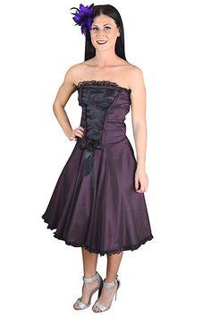 7891ae43b561 Skelapparel Gothic Rockabilly Purple Satin Corset Lace-up Dress:Purple corset  dress goth, Purple corset dress prom, Purple corset dress beautiful, ...