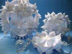 Móbile origami Kusudama Hana-mi. Design by Flaviane Koti