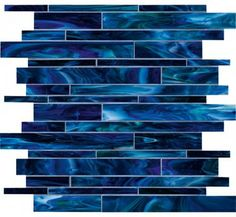 "treasure collection: blue saphire mosaic 12""x12"" - contemporary - kitchen tile - san diego - tileliving"