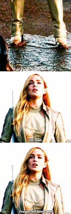 """Oh, man. You got my boots wet"" - Sara Lance #LegendsOfTomorrow #Season1Finale #1x16"
