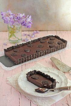Tarta de chocolate y galletas oreo sin horno. Receta paso a paso