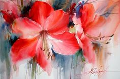 Watercolors, Oils and Acrylics by Brazilian artist Fabio Cembranelli featuring a gallery of original paintings, art tutorials, watercolor tips and his daily paintings. Watercolor Projects, Watercolour Painting, Watercolours, Art Floral, Abstract Flowers, Watercolor Flowers, Art Painting Gallery, Flower Art, Original Paintings
