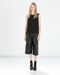 ZARA - NEW THIS WEEK - FAUX LEATHER LOOSE-TROUSERS