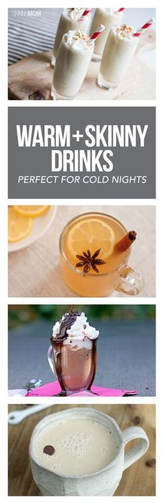 Snuggle up with one of these warm skinny drinks! Perfect for holidays!